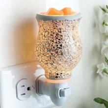 Silver Mosaic Plug-in Fragrance Warmer 6984