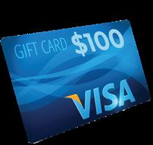$100 Visa Gift Card AP10B