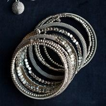 Bold Textured Coil Bracelet 2830