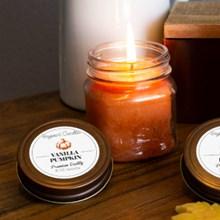 Vanilla Pumpkin Mason Jar Candle 9370
