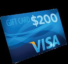 $200 Visa Gift Card AP11B